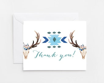 Thank You Card, Woodland, Baby Shower Printable Thank You Card (244_thankyou)