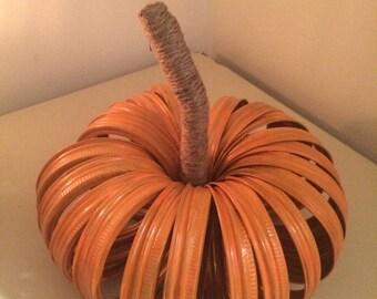 Mason Jar Lids Pumpkin