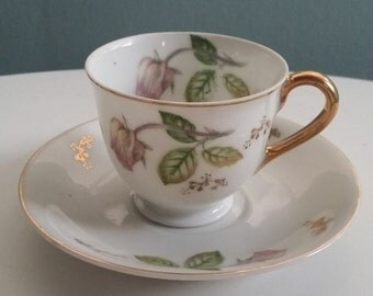 Farmhouse Antique Tea Cup and Saucer ~ Made in Japan 1950's
