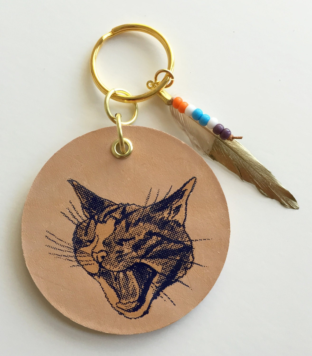 Keychains Circuit Board Glass Pendant Photo Necklace Keychain Cat Leather With Beads And Feather Charm Potemkin Key Chain Fob