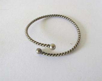 Vintage sterling silver twisted wrap Cuff Bracelet