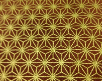 Glimmering Copper fabric. Metallic Copper geometric flower celtic modern quilters cotton quilting STOF 4443