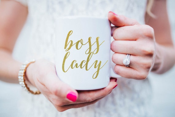 Gold boss lady mug