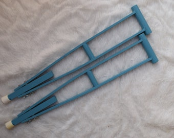 Child's Teal Play Crutches Girls Fun for Kids