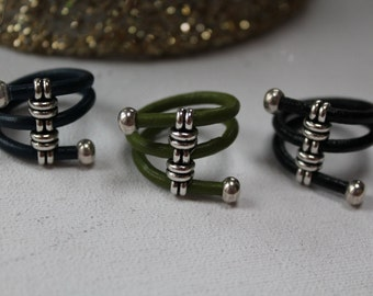 ON SALE Women s leather rings