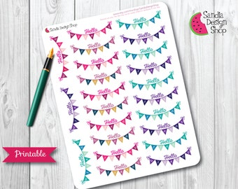 Printable Planner Stickers, Christmas Weekly Kit, Weekly Planner Printable, Perfect for Erin Condren Planner and Journals