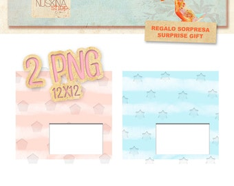 2 digital quick premade pages for Scrapbooking