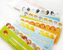 Cute Animal Sticky Notes • Lion, Hedgehog, Pig, Hamster, Duck, Dog, Cat • Post-it • Planner Page Marker • Bookmark • Post-it Flags
