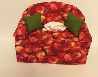 sofa couch tissue box cover-- apples