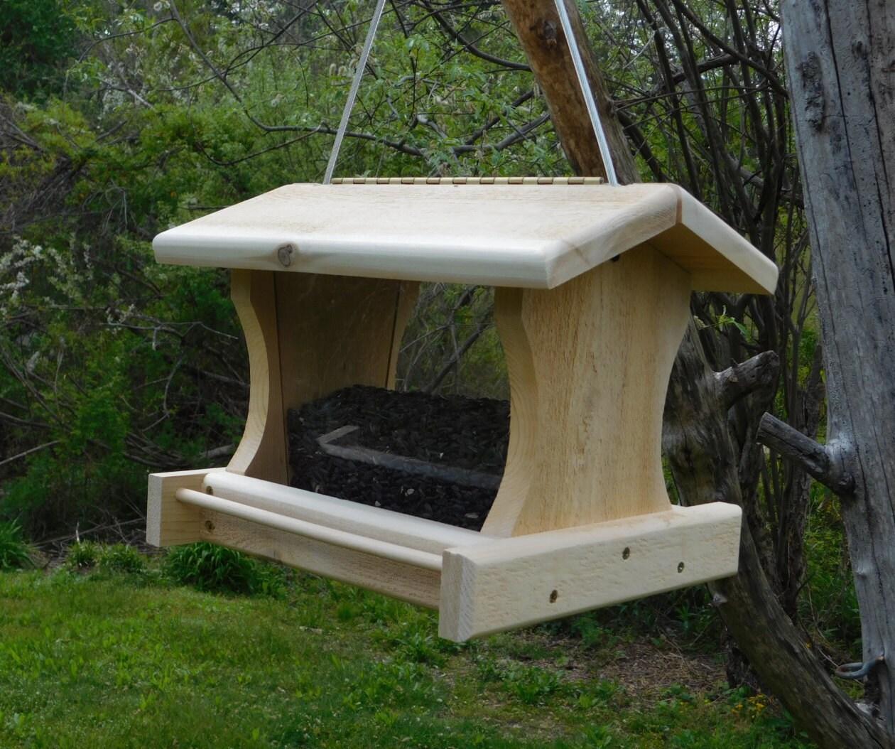 Large Cedar Bird FeederCable Hanging Large Bird Feeder