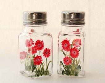 Hand Painted Salt &Pepper shakers Wildflowers