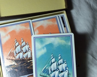 Vintage boat playing cards