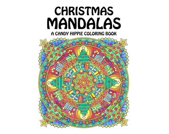 christmas mandalas coloring book printable adult coloring book for adults and big kids 12 christmas coloring pages - Christmas Coloring Book Printable