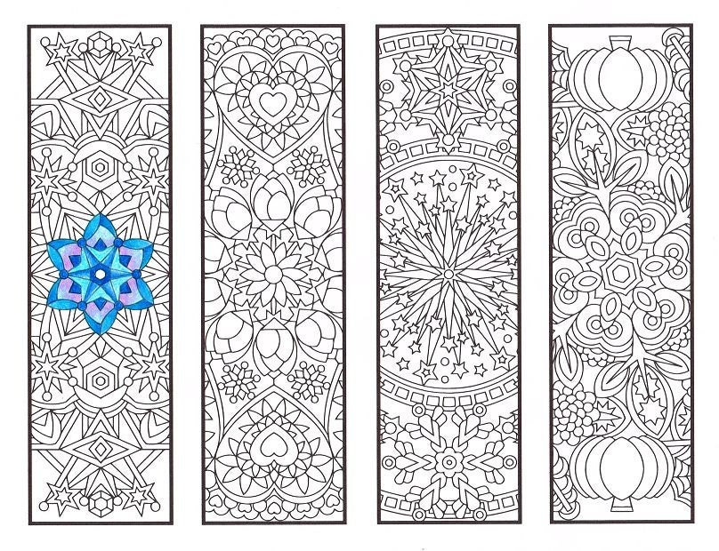 coloring pages of bookmarks - photo#39