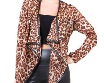 Leopard Chiffon Jacket