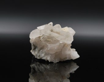 Clear Quartz Cluster On Matrix ≡ Natural Raw Quartz Crystal ≡ Switzerland