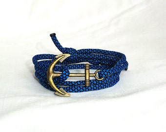 Nautical Bracelet Anchor Bracelet Anchor Rope Bracelet Paracord Bracelet Anchor Jewelry Nautical Jewelry Gift for her Gift for him