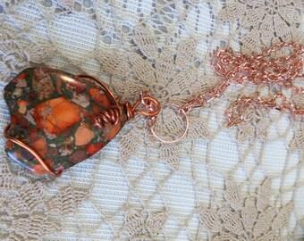 Trendy Marketplace rose gold necklace