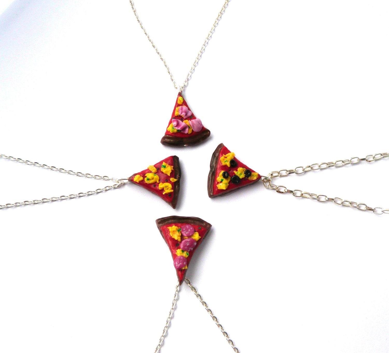 pizza necklace pizza slice pizza slice necklace pizza