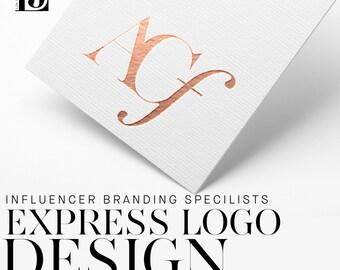 Custom EXPRESS LOGO DESIGN - Branding Logo - Luxury Branding- Influencer & blogger branding
