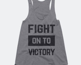 Fight on to Victory USC Trojans Women's Triblend Racerback Tank