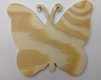 PWBF Unfinished Ready To Paint Wood Butterfly Cutout Handcrafted From BC Pine Plywood Ext.  3 sizes