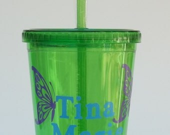 Personalized Butterfly Tumbler