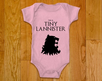 Game of Thrones Baby Bodysuit, Onesie - I'm a Tiny Lannister
