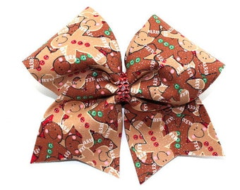 Gingerbread Cheer Bow