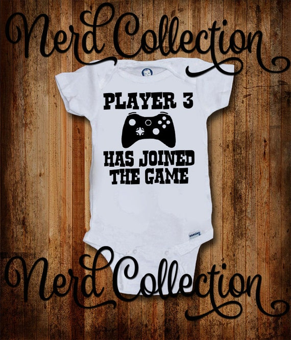 Baby Onesie Player 3 Joined The Game Gamer Pregnancy