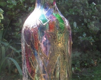 Stained Glass Antiqued Bottle