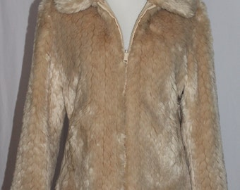 Vintage Faux Fur Cream Jacket