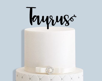 Taurus Star Sign Birthday Cake Topper