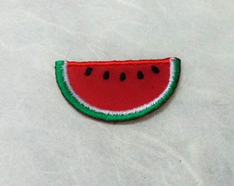 Watermelon Iron on Patch(S1) - Watermelon Applique Embroidered Iron on Patch-Size 3.4x1.8cm