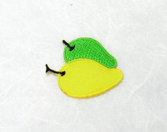 Mango Iron on Patch(S1) - Mango Applique Embroidered Iron on Patch-Size 2.9x3.2cm