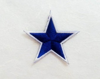Blue Star Iron on Patch-Blue Star Applique Embroidered Iron on Patch -Size 4.5x4.2 cm