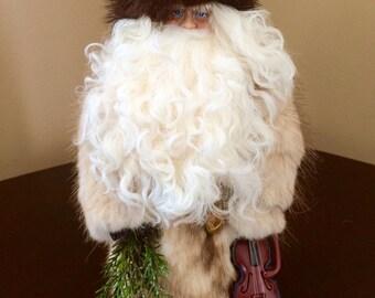 "10"" Handmade Santa Claus Doll, Christmas Decoration, Christmas Ornament, Santa Doll, Father Christmas, Unique Christmas Gift"