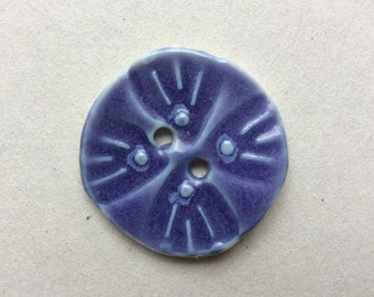 Glossy lavender purple with touches of blue circular porcelain ceramic buttons