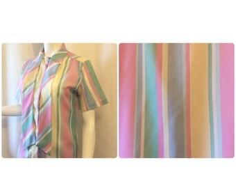 Laura Mae Pastel Stripe Blouse