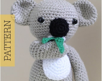 Crochet Amigurumi Koala PATTERN ONLY, KC Koala Cute Amigurumi, pdf Stuffed Animal Toy Pattern