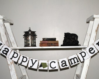 Happy Camper - Camping Theme Party Decor - Boy's Birthday - Outdoor - Rustic