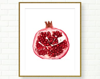 Pomegranate art etsy for Pomegranate interior design decoration