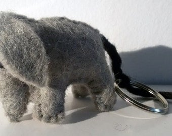 KEYRING ELEPHANT boiled wool