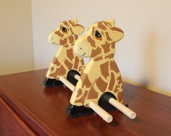 Wooden Giraffe bookshelf