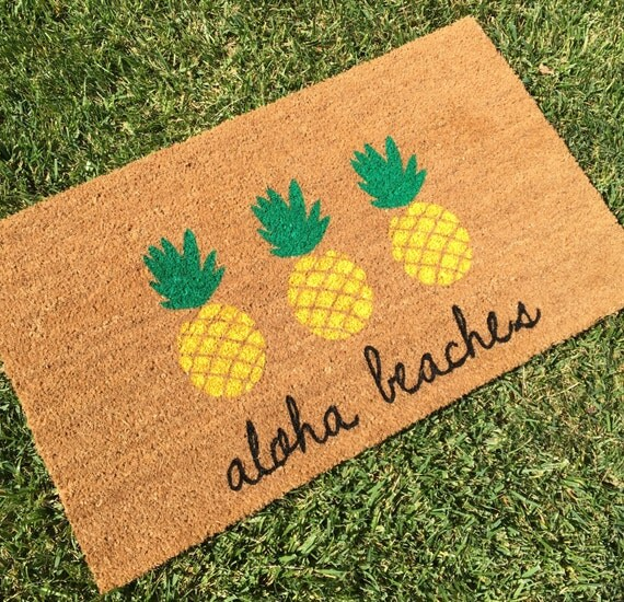 Aloha Beaches Pineapple Doormat Pineapple By