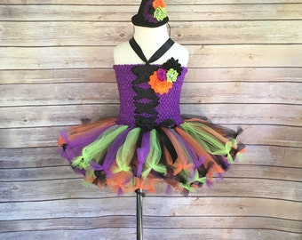 Witch costume - witch tutu -  halloween costume - witch dress - witch halloween costume - girls Halloween costumes - baby girls costumes