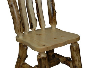 Rustic Aspen *Set of 2* CAPTAINS CHAIRS - Handmade - Custom - Amish Made in USA