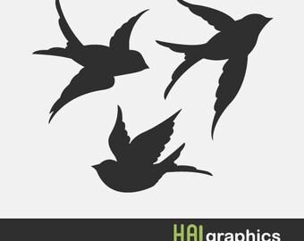 Flying bird svg | Etsy