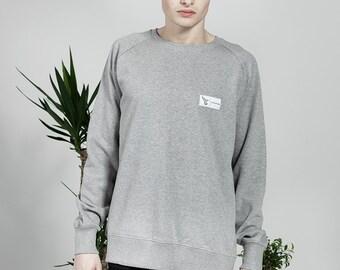 Plain Organic Jumper - Grey