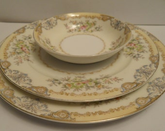 Meito China set from Japan  hand painted Pattern Langdon